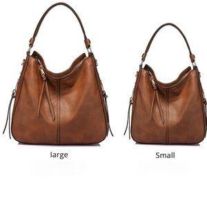 Hobo Vegan Leather Purse and Handbag  with Tassel